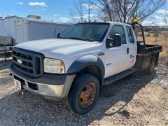 2006 Ford F550 4x4 Pickup w/ Flatbed (Inoperable)