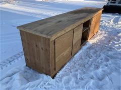 Shop Built Wooden Work Bench
