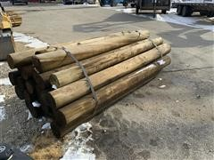 Treated Wood Fence Posts