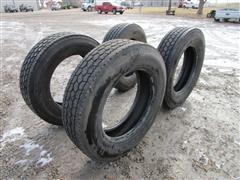 Bridgestone M726EL 285/75R24.5 Low Profile Truck Tires - Recaps