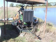 "Berkeley 13.5"" Impeller Portable Water Pump W/John Deere 4.5L Power Tech 4-Cylinder Diesel Engine & Lima Mac Generator"