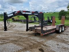 2011 TowMaster T-14P T/A Flatbed Trailer
