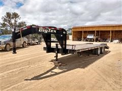 2016 Big Tex 20GN-20BK+5 T/A Flatbed Trailer