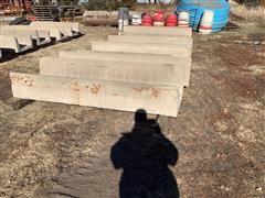 8' Concrete Feed Bunks