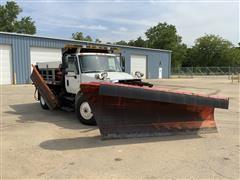 2005 International 4300 SBA 4x2 Dump Truck With Snow Blade