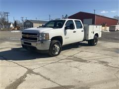 2013 Chevrolet 3500HD 4x4 Crew Cab Service Truck