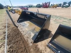 2018 John Deere Worksite Pro RB84 Roll Out Bucket W/Skid Steer Mounts