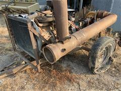 Ford 300 Engine W/Clutch And Pump