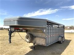 2012 Circle D 6820GNST T/A Livestock Trailer