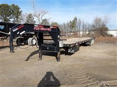 2015 Parker Performance GNTD9640 T/A Flatbed Trailer