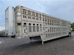 1999 Wilson PSDCL-302 50' T/A Aluminum Livestock Trailer