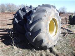 Firestone Champion Spade Grip 35.5Lx32 Rice Tires On 10 Bolt JD Rims