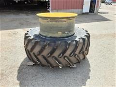 Michelin 650/65R38 XM108 Tire & (2) Rims