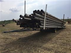 """8"""" Aluminum Irrigation Pipe & Trailer"""