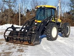2006 New Holland TV145 4WD Bi-Directional Tractor W/Loader