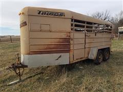 1986 Triggs-Miner T/A Livestock Trailer