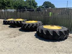 John Deere S680 520/85R42 Combine Straddle Duals Wheels Tires