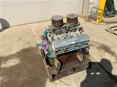 Oldsmobile Engine, 330 CI Block, 400 Heads, Dual Quad Manifold