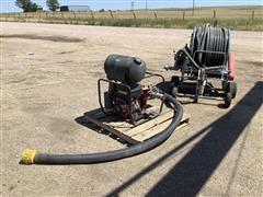 Micro Rain MR-43 Irrigation Sprinkler Reel W/Engine & Pump