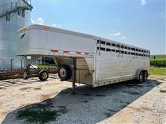 1996 Featherlite 8110 T/A 24' Aluminum Livestock Trailer