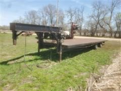 1994 Homemade Spread Axle 36' Expandable Gooseneck Flatbed Trailer
