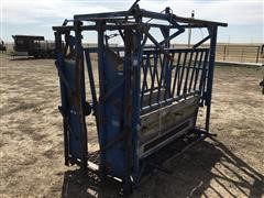 Priefert And Big Valley Manual Squeeze Chute And Palp Cage