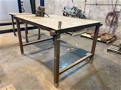 Shop Table W/Vise