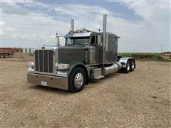 2013 Peterbilt 389 Extended Hood T/A Truck Tractor W/Flat Top Sleeper