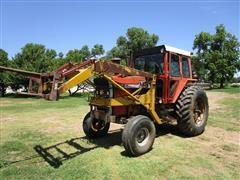 1973 Massey Ferguson 1105 2WD Tractor W/Freeman Loader