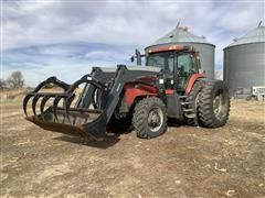 2001 Case IH MX220 MFWD Tractor W/Quickie Q88 Loader