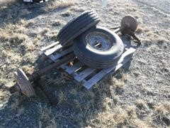 Trailer Axle W/ Tires & Wheels