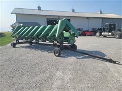 2002 John Deere 893 8R30 Corn Head W/Head Cart
