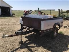 Homemade Pickup Bed Trailer W/Toolbox & Fuel Tanks