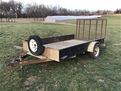 H&H 12' S/A Flatbed Utility Trailer
