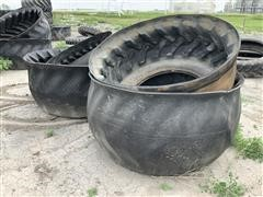 Turned Tire Feed Bunks