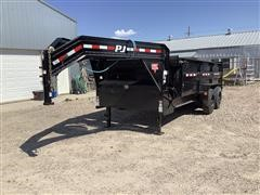 2020 PJ Gooseneck T/A Hydraulic Dump Trailer
