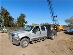 2004 Ford Super Duty F350 4x4 Crew Cab Pickup W/Utility Bed