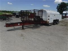 1985 Gold 1500-Gallon Fuel Storage Tank On T/A Trailer