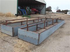 Shop Built Bottomless Steel Feed Bunks