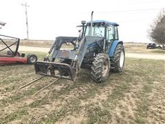 2000 New Holland TS100 MFWD Tractor W/Loader