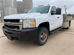 2008 Chevrolet 3500 HD 4x4 Extended Cab 4 Door Flatbed Pickup