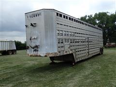 """1976 American 48' X 96"""" T/A Livestock Trailer"""