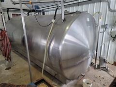 Surge 2000-Gallon Milk Bulk Tank W/Refrigeration & Washer