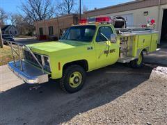 1979 GMC Sierra Grande 3500 4x4 Fire Truck