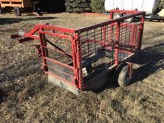 Shop Built ATV Calf Catcher