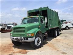 1999 International 4900 T/A Rear Load Garbage Truck