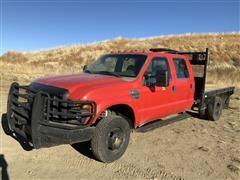 2008 Ford F350XL Super Duty 4X4 Crew Cab Flatbed (INOPERABLE)