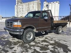 1996 Ford F250XLT 4x4 Flatbed Pickup