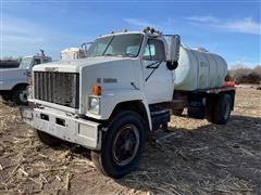 1984 GMC Brigadier 9500 S/A Truck W/1400 Gallon Tank