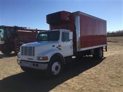 1999 International 4700 S/A Reefer Box Truck